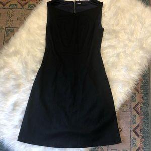 Ellie Tahari black wool blend dress
